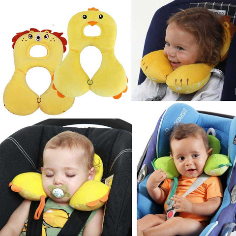 Cartoon Animal 1-4Y Baby Shaping Pillow Infant Car Sleeping Headrest Neck Protection