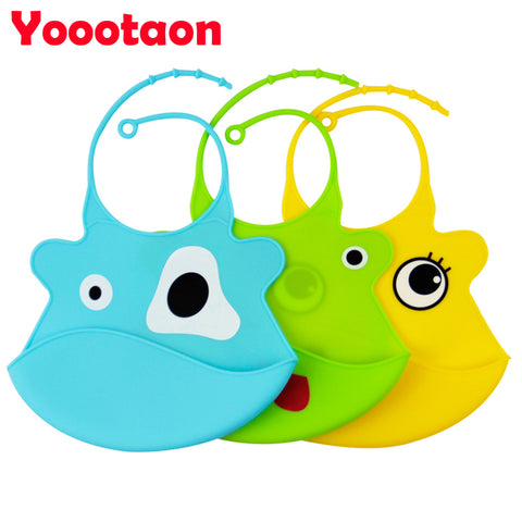 2018 new design Baby bibs waterproof silicone feeding