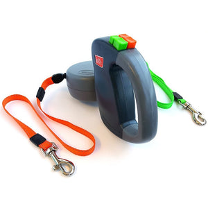 Dual Doggie Retractable Leash By Gadget Plot (Individually Controlled)