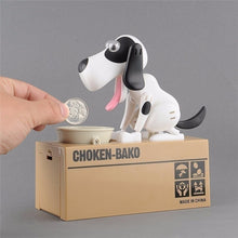 Hungry Puppy Mechanical Coin Bank By Gadget Plot. (Doggy Coin Bank)