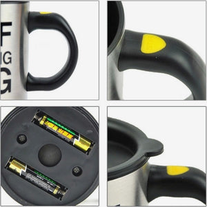 Stainless Steel Self Stirring Mug. (400ML Battery-Powered Mug)