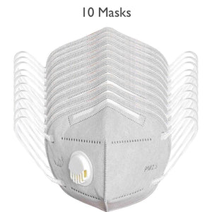Class N95 & PM2.5 Anti-Virus Micro-Particle Barrier Respirator Mask With Valve. (1pc, 5pcs, 10pcs, 50pcs)