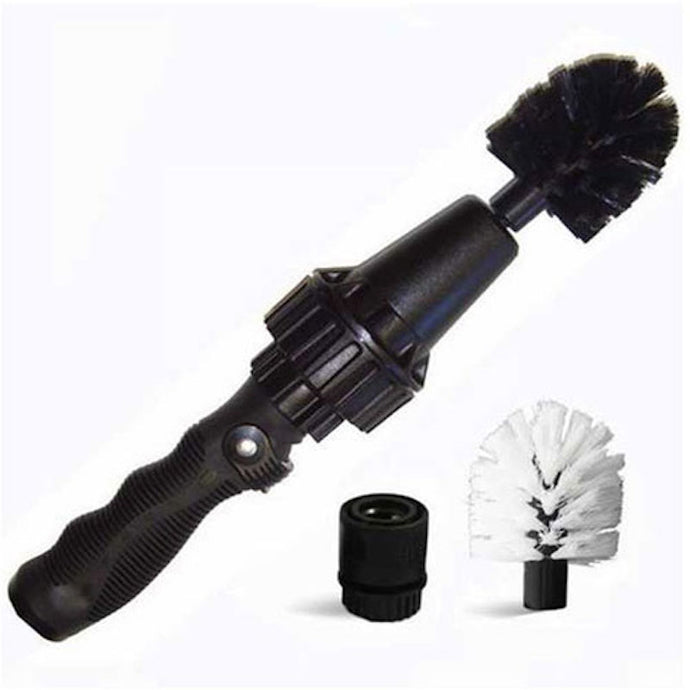 Multi-Use Water-Powered Wheel Brush Turbine (Ideal for Rims, Engines, Bikes, Equipment, and More)