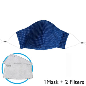 N95 PM2.5 Activated Carbon Filter Anti-Virus Micro Particle Barrier Child Face Mask. (Reusable & Made in U.S.A)