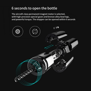 Electric Automatic Corkscrew Bottle Opener.  (Foil Cutter Included)