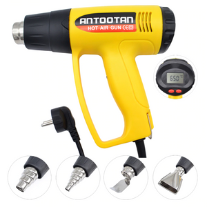 Industrial 2000W 220V Electric Hot Air Gun. (Thermo-Regulator LCD Display)