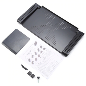 Adjustable Ergonomic Portable Aluminum Laptop Desk. (Mouse Pad Included)