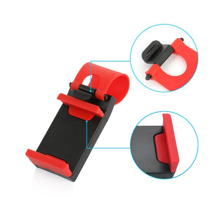 Universal Car Steering Wheel Clip Mount Holder. (2 Colors Available)