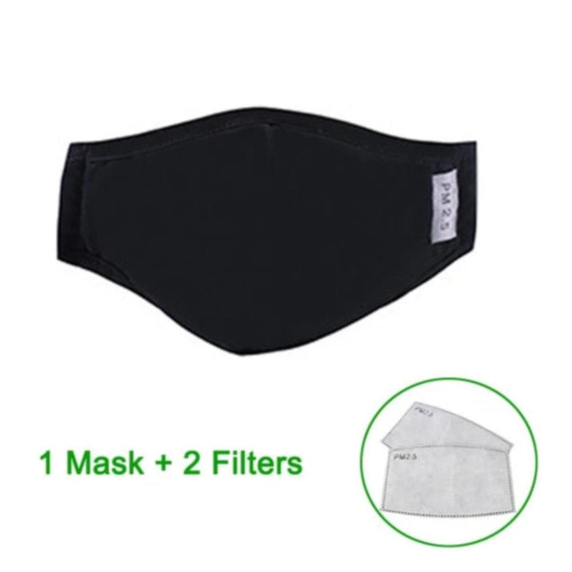 Multi Layer PM2.5 Micro Particle Barrier Face Mask. (Reusable With Activated Carbon Filter)