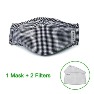 N95 PM2.5 Anti-Virus Micro Particle Barrier Face Mask. (Reusable With Activated Carbon Filter)