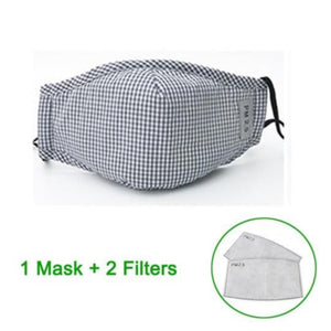 PM2.5 Micro Particle Barrier Face Mask. (Reusable With Activated Carbon Filter)
