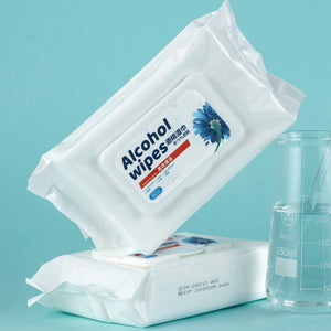 75% Ethyl Alcohol Disinfecting Antibacterial Disposable Wipes. (50pc Pack)