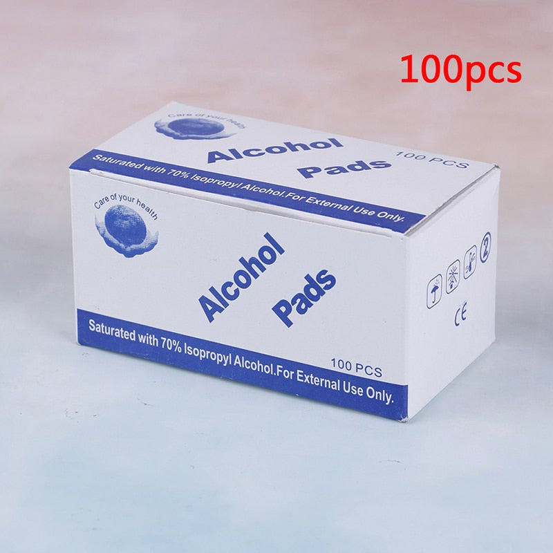 70% Isopropyl Alcohol Antibacterial Disinfectant Swab Pads. (100pc Box)
