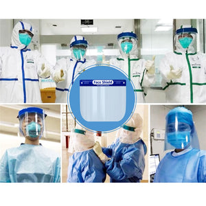 Professional Fluid Splash Protective Barrier Anti-Fog Transparent Safety Face Shield. (10pc, 20pc, 50pc)
