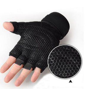 Wrist Band Weight Lifting Fitness Gloves. (4 Colors Available)