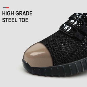 Military Grade Steel Toe Air Mesh Breathable Safety Shoes.