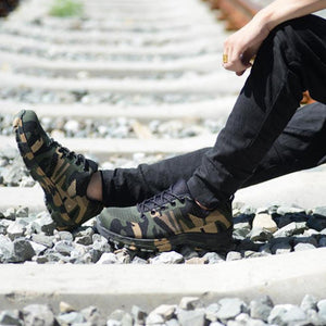 Military Grade Puncture Proof Steel Toe Safety Shoes. (7 Styles Available)