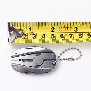 Portable Stainless Steel Multifunction Foldaway Tools Keychain.