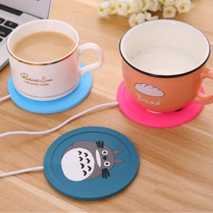 Silicone USB Drink Warming Coaster. (Cartoon Decorated Pad)