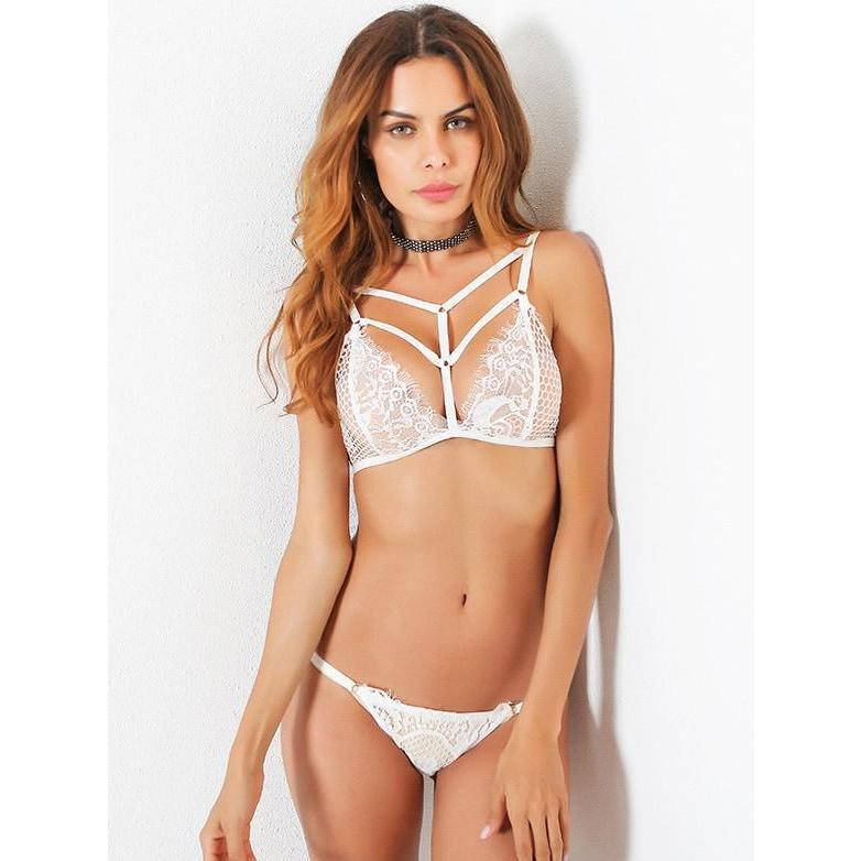 Caged Front Lace Bralet - ShopHaya.com