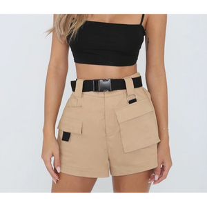 Zuri High Waist Pockets Short
