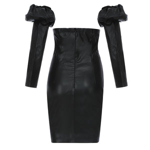 Adela Stunning Leather Dress