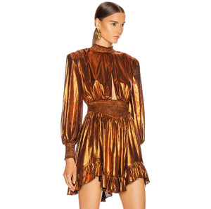 Lola Metallic Goddess Dress