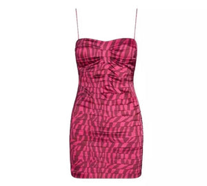 Worn By Kendall Jenner: Fuchsia Tiger Print Dress