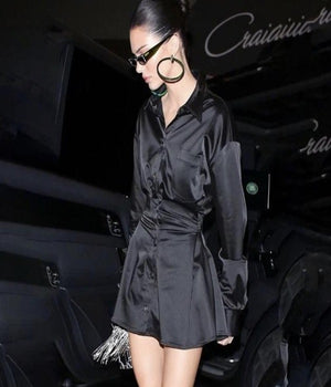 Worn By Kendall Jenner: Elegant Statement Easy Shirt Dress