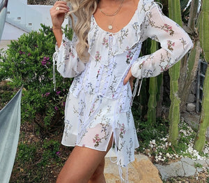 Caroline Corset Floral Dress