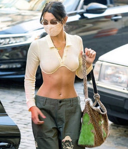 Worn By Bella Hadid: Underwired Streetwear Cropped Top