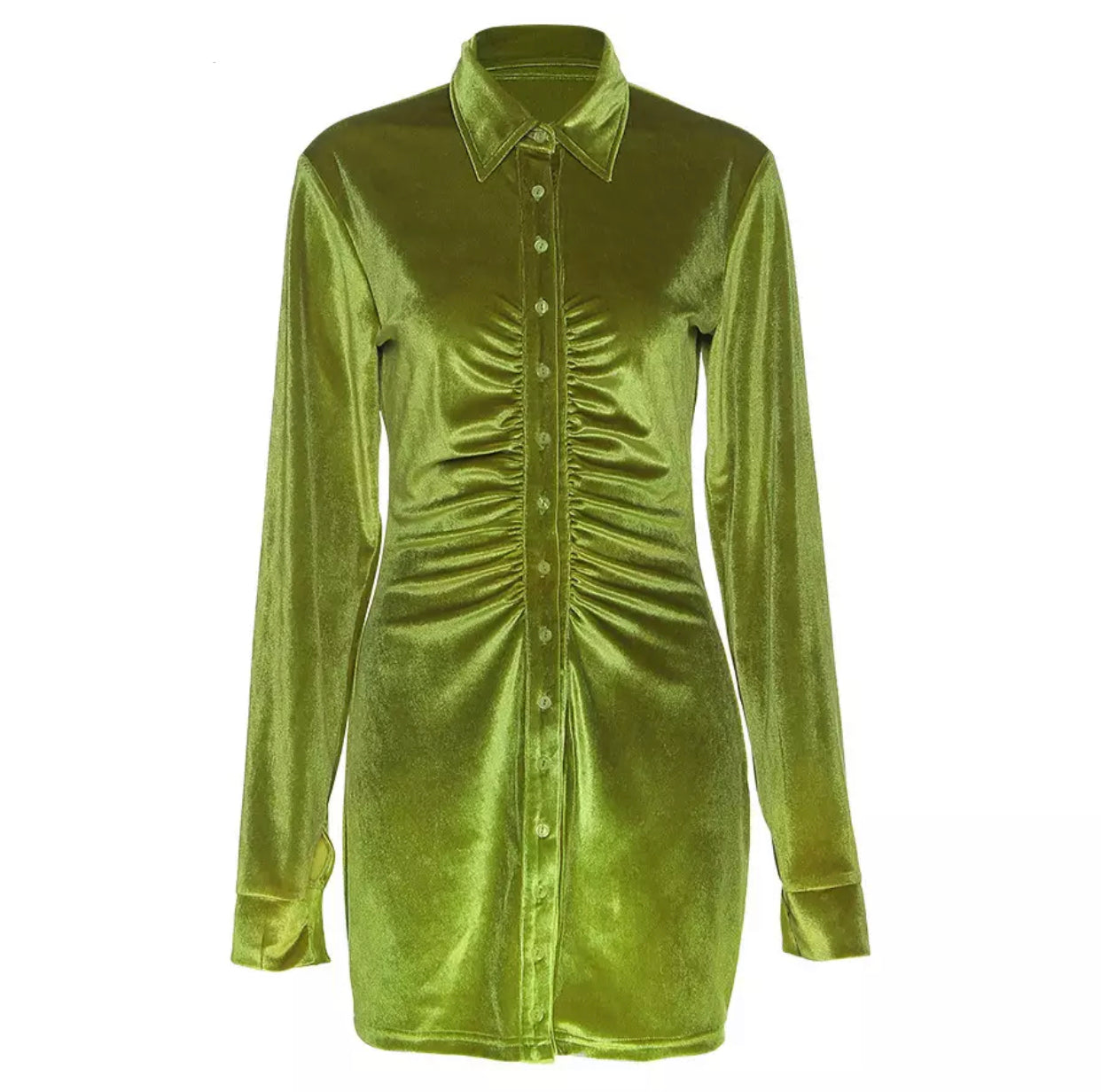 Alia Velvet Shirt Mini Dress