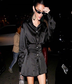 Worn By Kendall Jennar: Elegant Statement Easy Shirt Dress