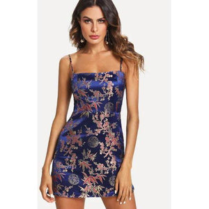 Kaia Floral Satin Dress