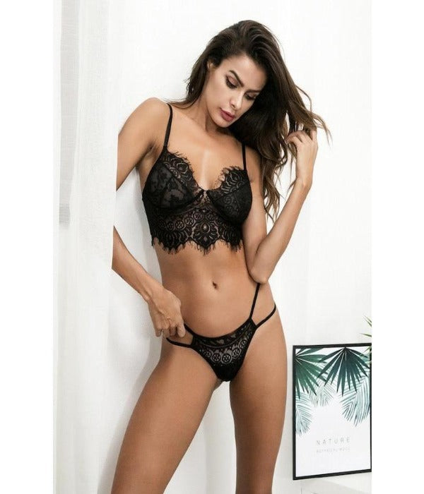 Eyelash Lace Lingerie Set - ShopHaya.com
