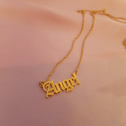 CUSTOM Old English Font Necklace