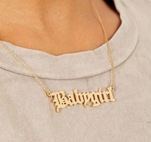 Load image into Gallery viewer, CUSTOM Old English Font Necklace