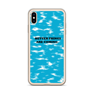 BETTER THINGS / blue / iPhone Case