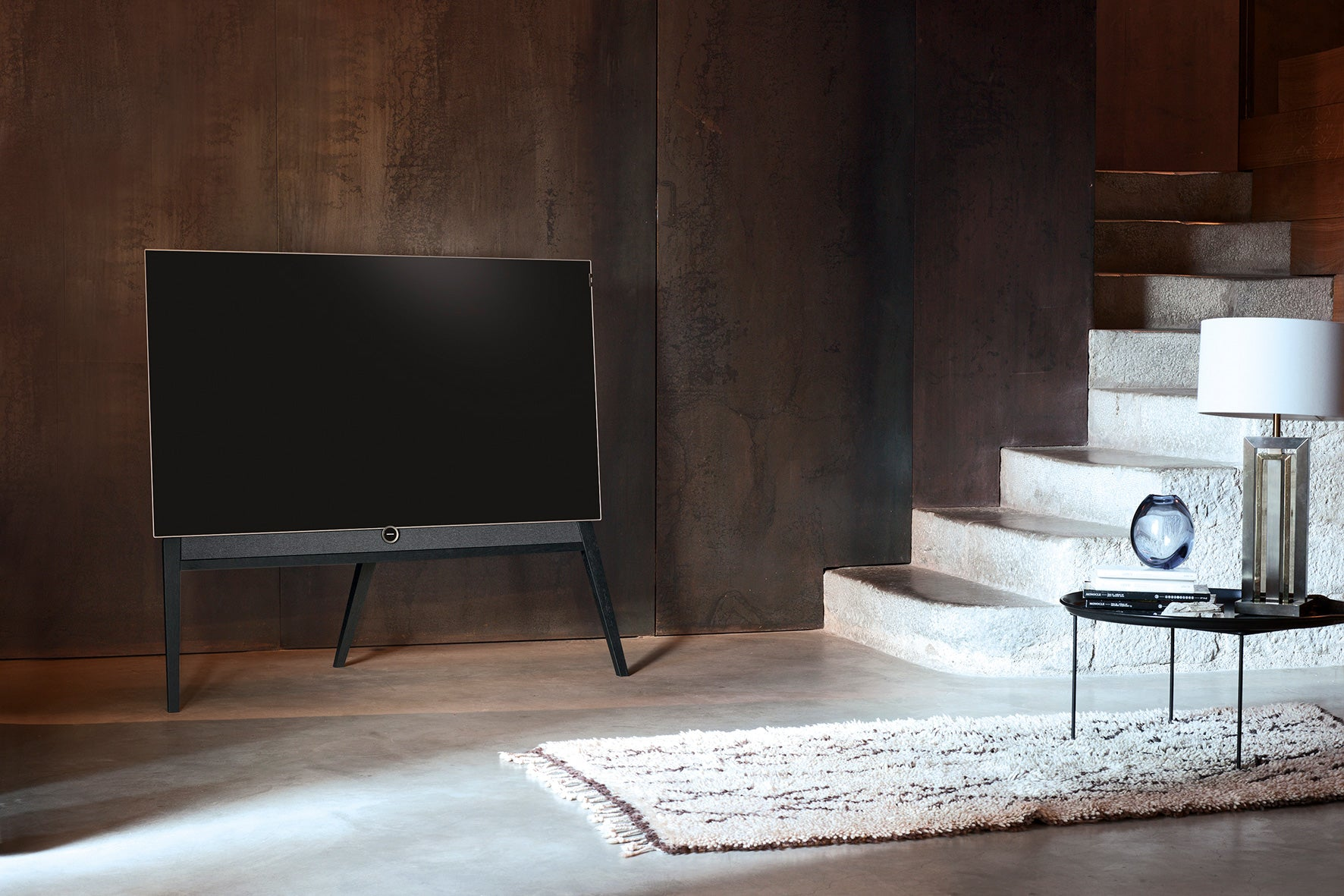 Loewe bild 5 OLED Floorstand Television Technology design by Bodo Sperlein