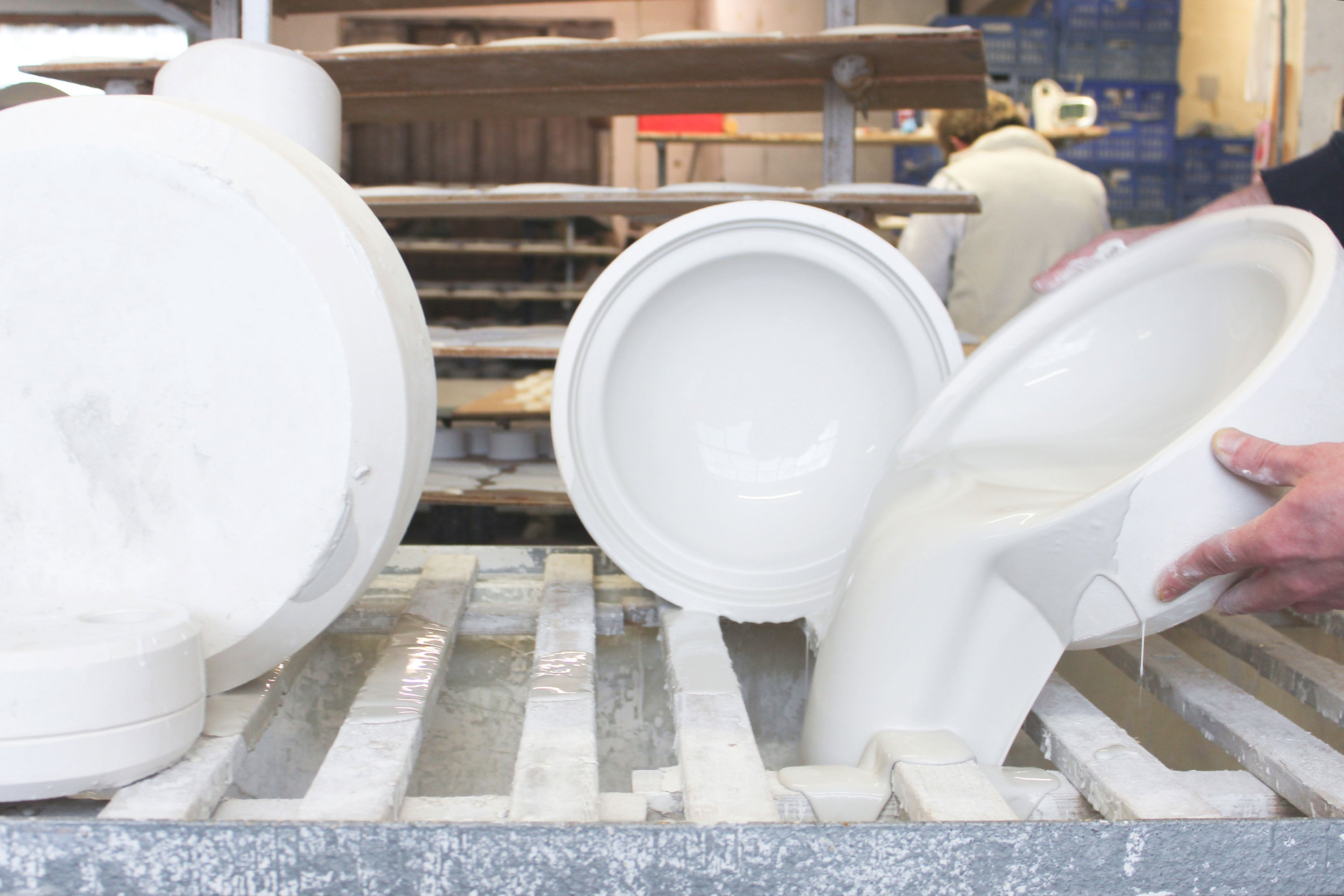 White Sculptural Fine Bone China Production