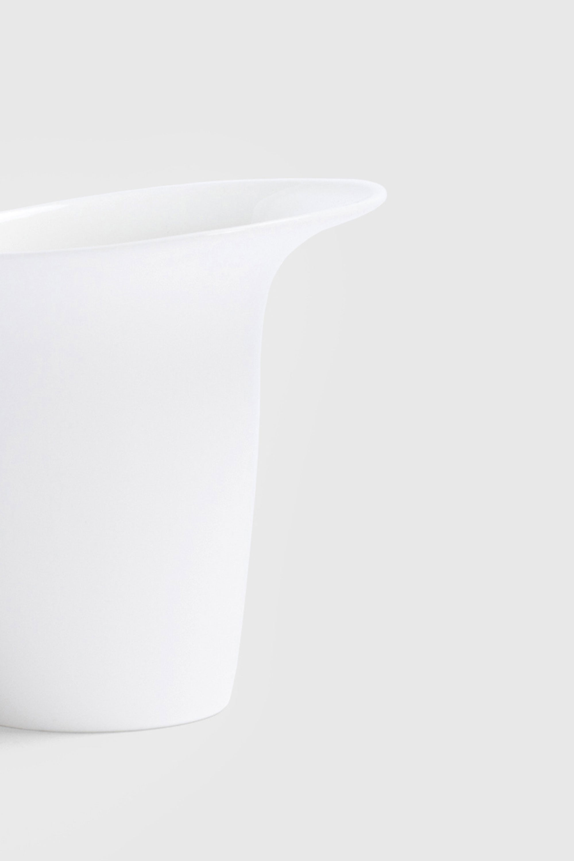White Sculptural Fine Bone China Luna Mug designed by Bodo Sperlein