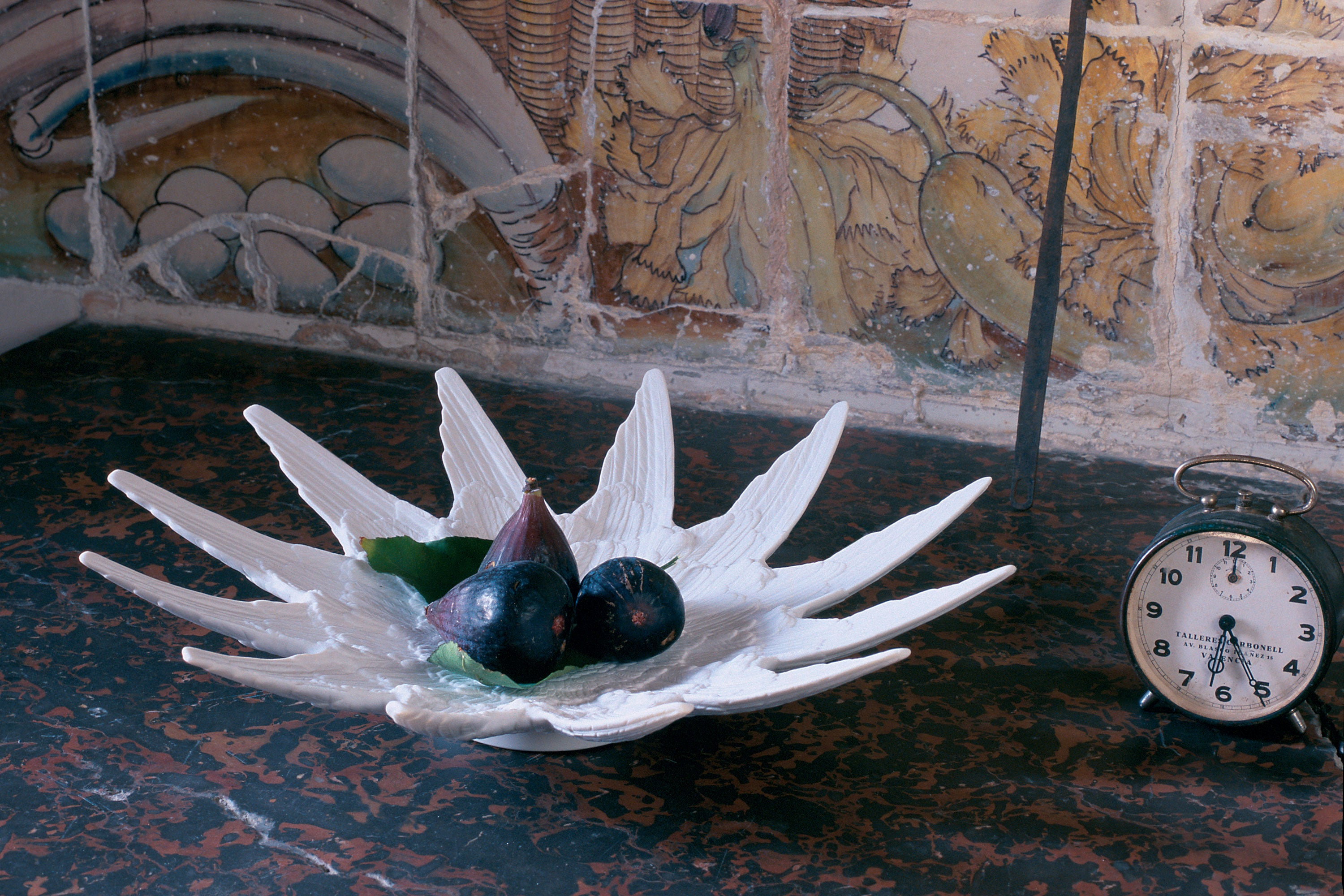 Lladro Papageno Porcelain Fruit Bowl Designed by London Based Studio Bodo Sperlein