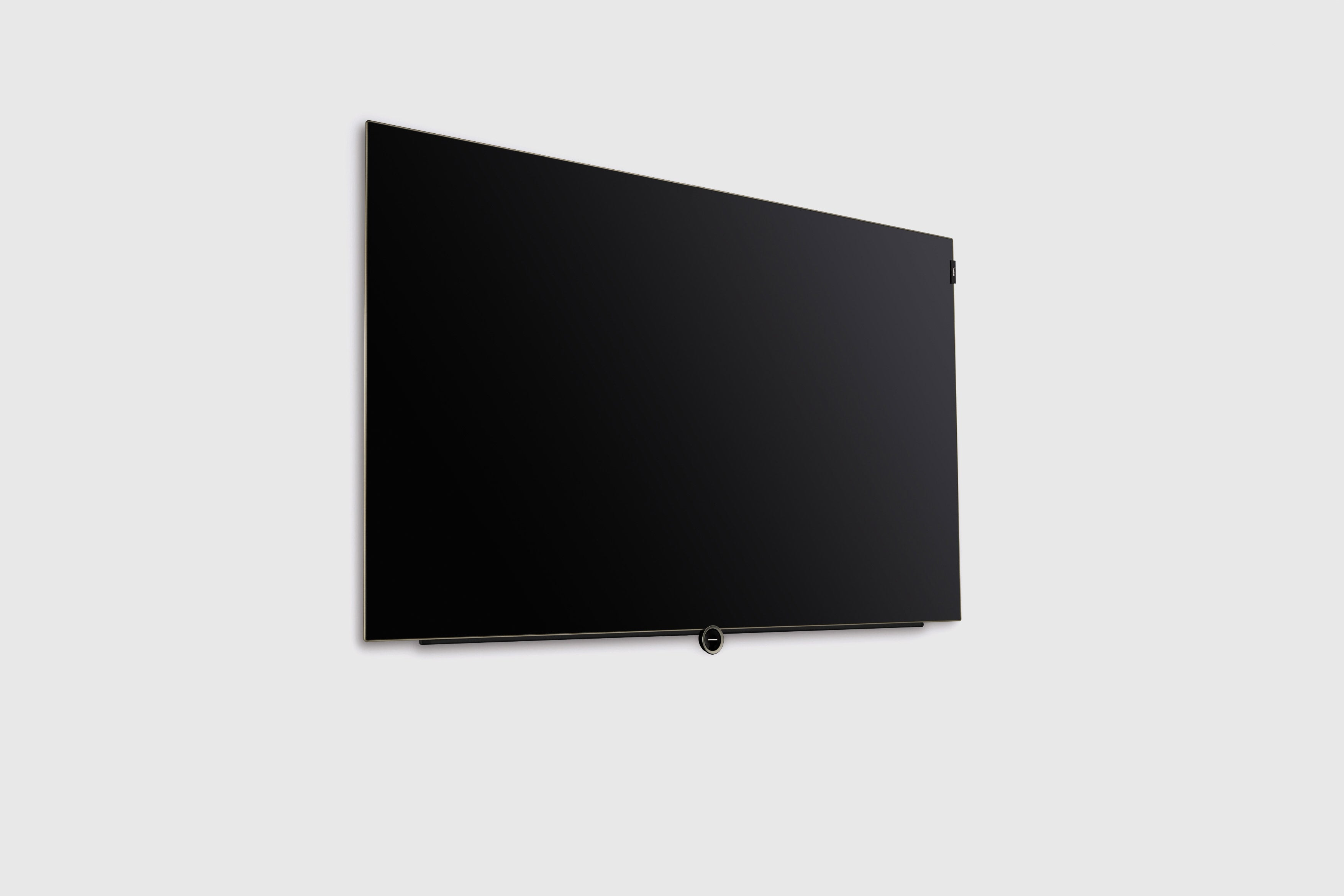 Loewe bild 5 OLED Television Wall Mounted Black Oak Technology design by Bodo Sperlein Studio