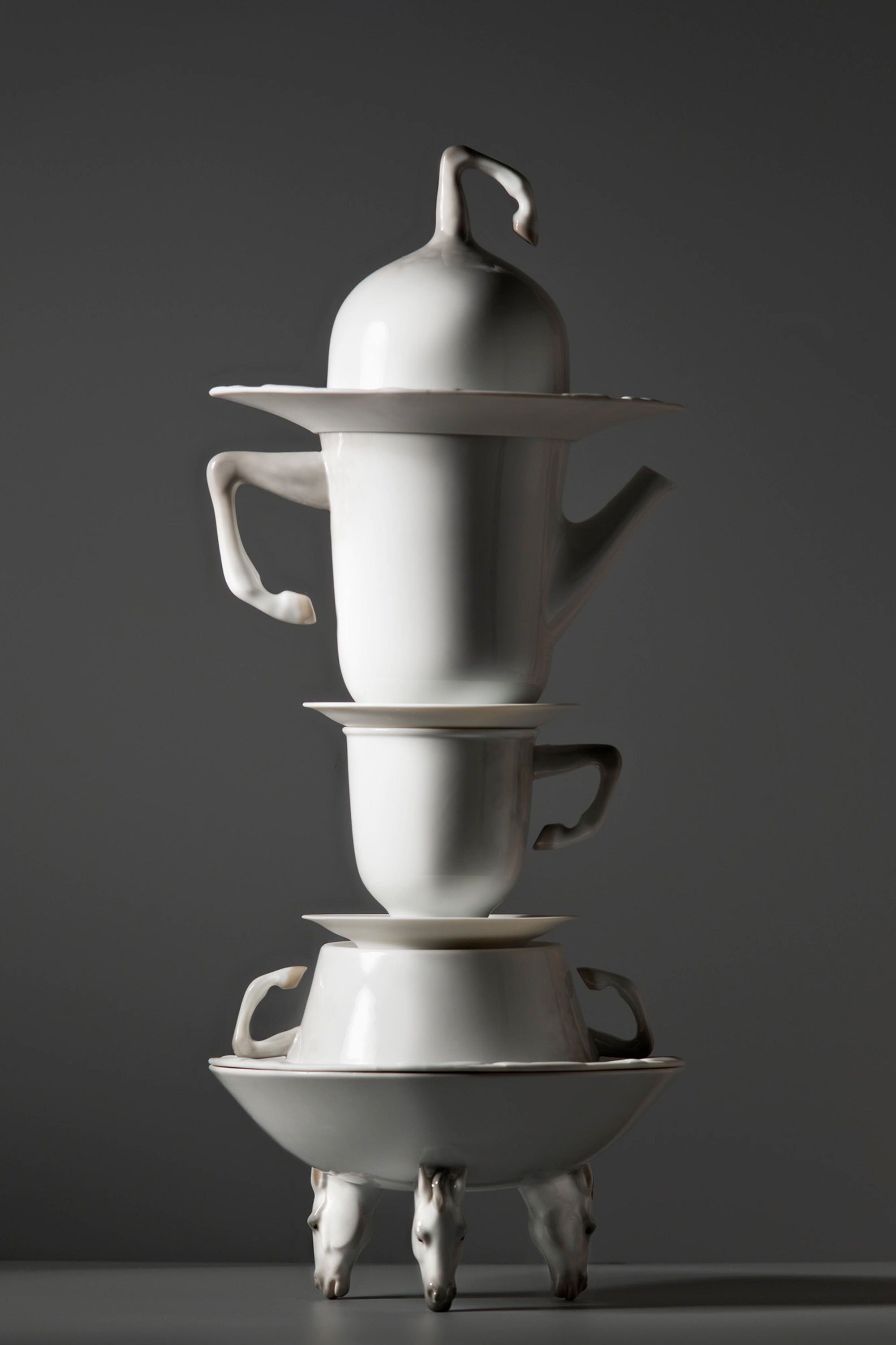Lladro Equus Porcelain Tableware Collection Design by Bodo Sperlein Agency