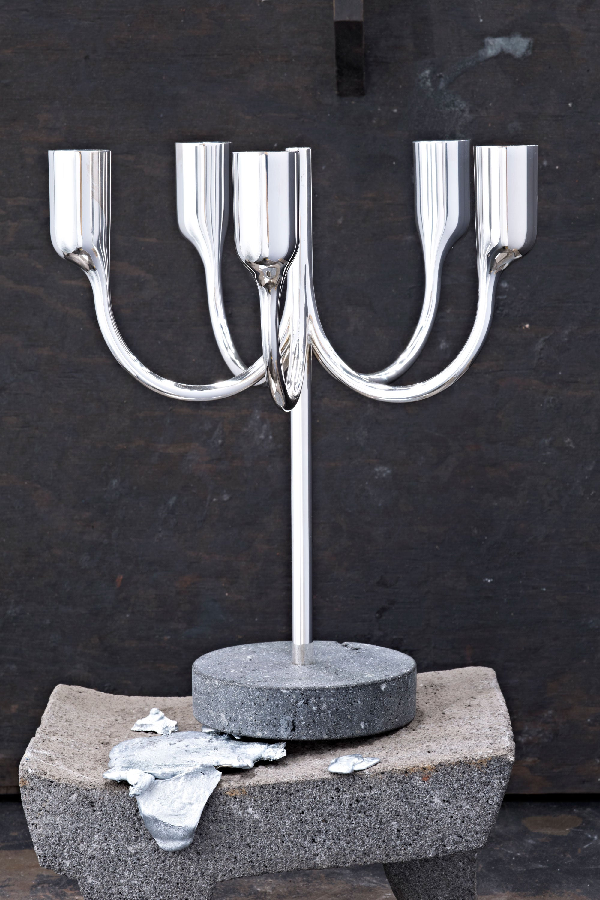 Tane Silver Lighting Collection designed by Bodo Sperlein