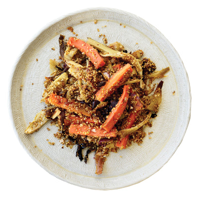 Harissa, Roasted Carrot & Fennel Salad