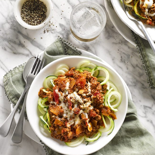 Zoodle Bolognese