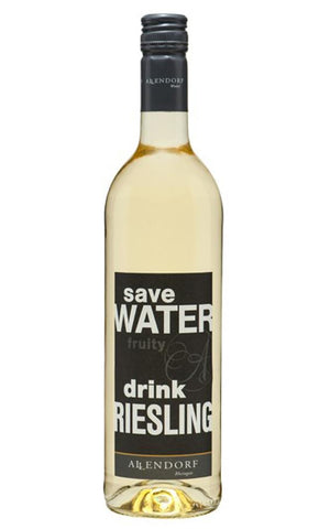 Allendorf 2014 Save Water Drink Riesling fruity white wine