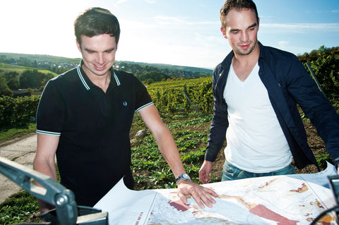 Bischel Brothers Christian and Matthias at their vineyard in Germany