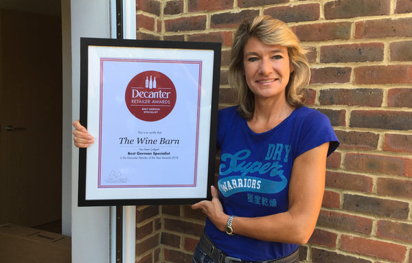 Decanter Retailer Awards 2018 - Best German Specialist Winner - Iris Ellmann - The WineBarn